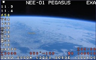 The live video feed from orbit